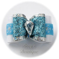 Shimmering Snowflake - Adult Dog Bow