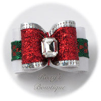 Christmas Sparkling Red - Adult Dog Bow