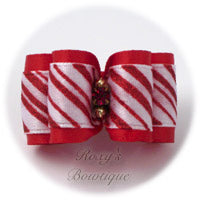 Christmas Peppermints - Adult Dog Bow