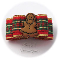 Gingerbread Girl - Puppy Dog Bow