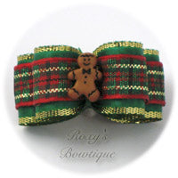 Gingerbread Boy - Puppy Dog Bow