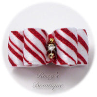 Christmas Peppermints - Puppy Dog Bow