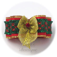 Golden Christmas - Puppy Dog Bow