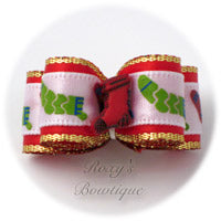 Christmas Stockings - Puppy Dog Bow
