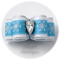 Shimmering Snowflake - Puppy Dog Bow