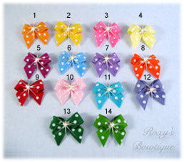Sweet Baby Dots Dog Bow - Baby Dog Bows