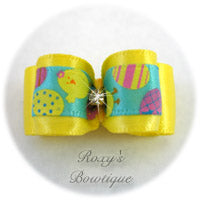 Lemon and Easter Eggs-Puppy Dog Bow
