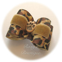 Leopard Safari - Adult Dog Bow