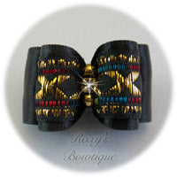 Black and Gold Elegance - Adult Dog Bow