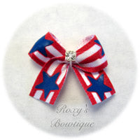 Patriotic Baby Dog Bow - Baby Dog Bow