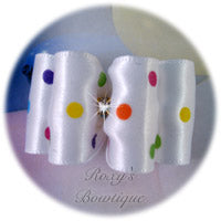 Birthday Dots - Adult Dog Bow