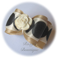Oatmeal Cream Rose - Adult Dog Bow