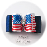 Stars and Stripes Forever-Puppy Dog Bow