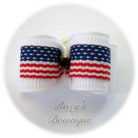 American Flag-Puppy Dog Bow