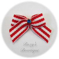 Independence Colors Dog Bow