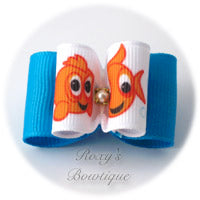 Happy Goldfish Dog Bows - Adult Dog Bow