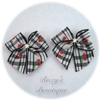 Black Cherry Puppy Dog Bow