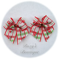 Red Cherry Pie Puppy Dog Bow