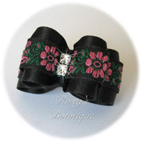 Fancy Pink Flower - Adult Dog Bow