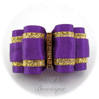 Roxy's Special Selection - Regal Purple - Adult Dog Bow