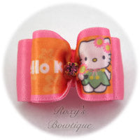 Hello Kitty Dog Bow - Hot Pink