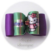 Hello Kitty Dog Bow - Purple