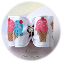 Birthday Ice Cream Cones - Adult Dog Bow