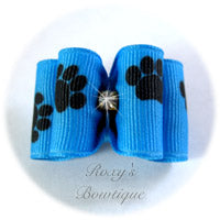 Copen and Black Paws Adult Dog Bow