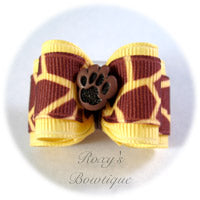 Giraffe Safari Adult Dog Bow
