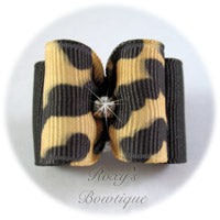 Jungle Leopard Adult Dog Bow