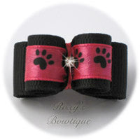Hot Pink with Black Paw