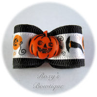 Happy Jack O' Lantern - Puppy Dog Bow
