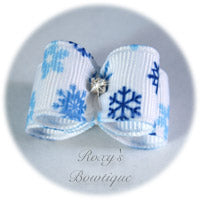 Snowflakes - Puppy Dog Bow