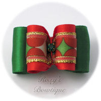 Magical Christmas - Red - Adult Dog Bow