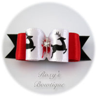 Reindeer Fantasy - Puppy Dog Bow