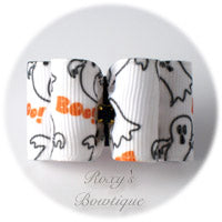 Halloween Ghosts - Adult Dog Bow