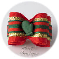 Santa's Glove - Adult Dog Bow