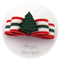 Christmas Tree Tiny Dog Bow