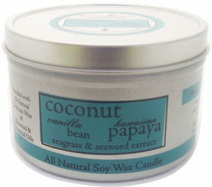 Coconut Papaya Travel Tin Candle - Aroma Paws