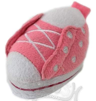 Lil' Plush Pink Shoe Dog Toy - A-Plush Dog Toys