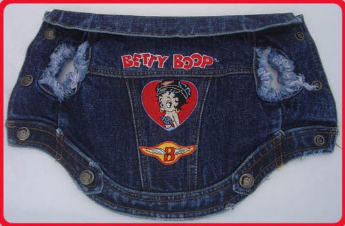 Biker Dog Jacket - Betty Boop Dog Clothes