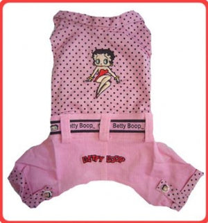 Pink Polka Dot Dog Jumper - Betty Boop Dog Clothes