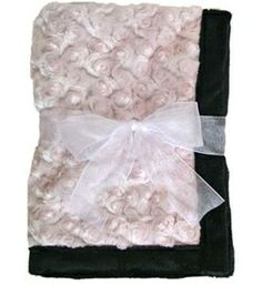 Pink Dog Blanket Curly Pink With Black Puppy - Dream On