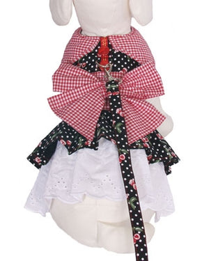 Cherry Pie Dog Harness Dress - Cha-Cha Couture