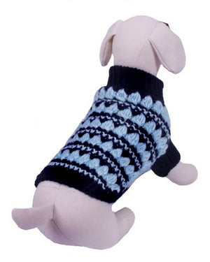 GQ Black and Blue Sweater - Dog Sweater - Cha-Cha Couture