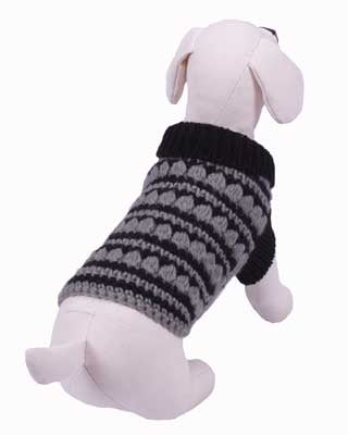 GQ Black and Grey Sweater - Dog Sweater - Cha-Cha Couture
