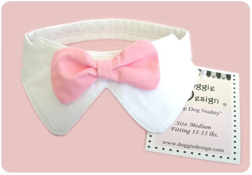 Dog Collar and Pink Bow Tie Set