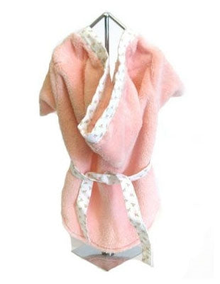 Pink Plush Terry Bathrobe