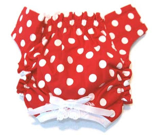 Red/White Polka Dot Panties - Doggie Design