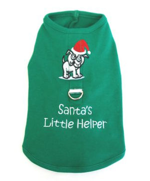 Santa's Little Helper Harness Tee - Doggie Design
